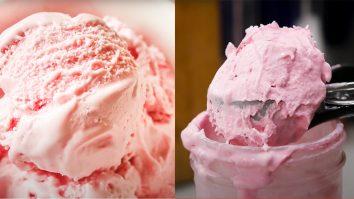 Low Carb Strawberry Mason Jar Ice Cream | Keto Dessert Recipes