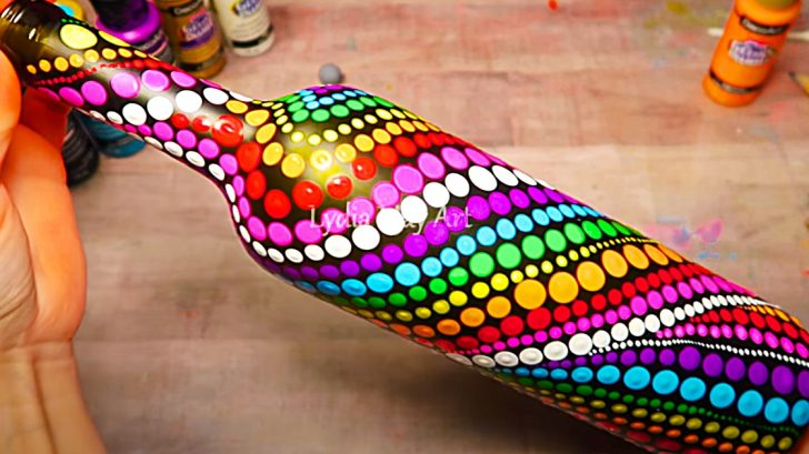 How To Make A Rainbow Dot Bottle