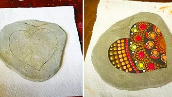 How To make A Heart Mandala Rock