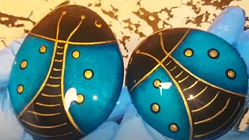 How To paint a Scarab Rock Then Coat With Resin