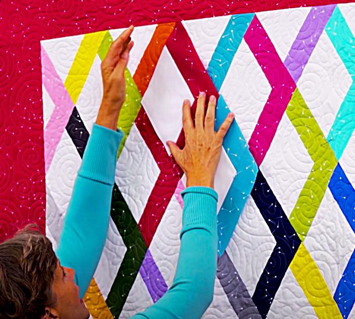 Place Rhomba Blocks Into A Gemstone Quilt With Jenny Doan